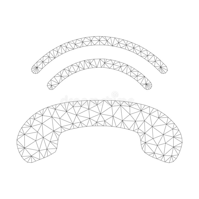 Mesh Vector Phone Ring Icon vector illustration