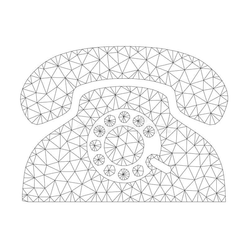 Mesh Vector Pulse Phone Icon royalty free illustration