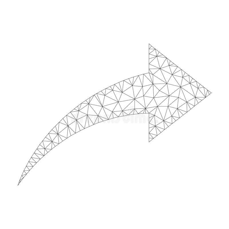 Mesh Vector Redo Icon stock illustrationer