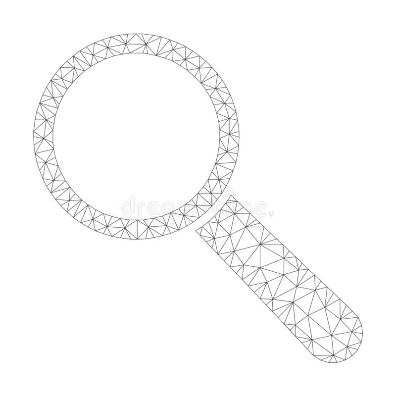 Mesh Vector Search Tool Icon royalty free illustration