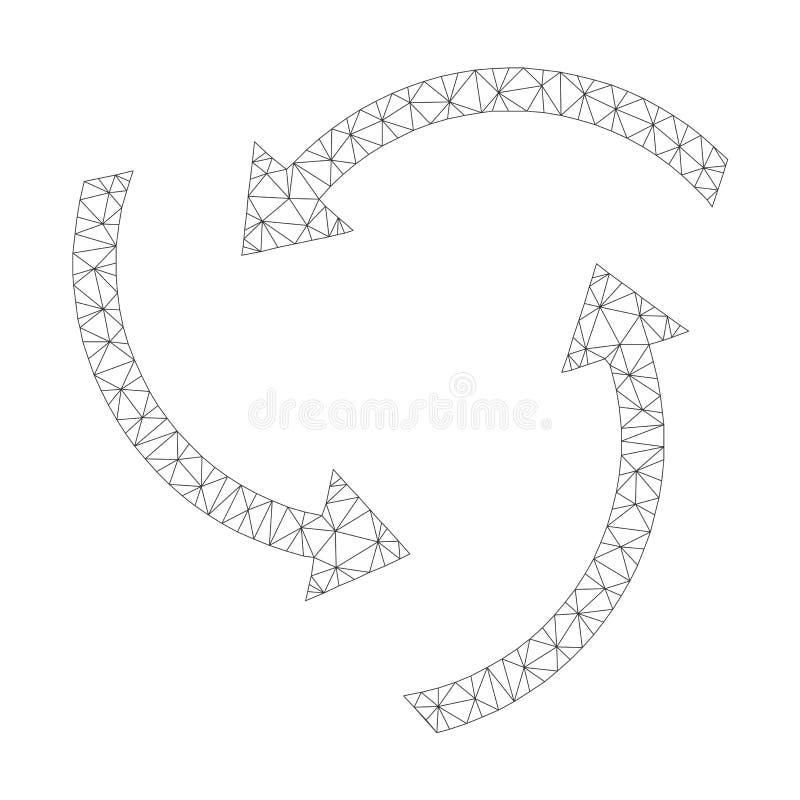 Mesh Vector Swirl Arrows Icon libre illustration