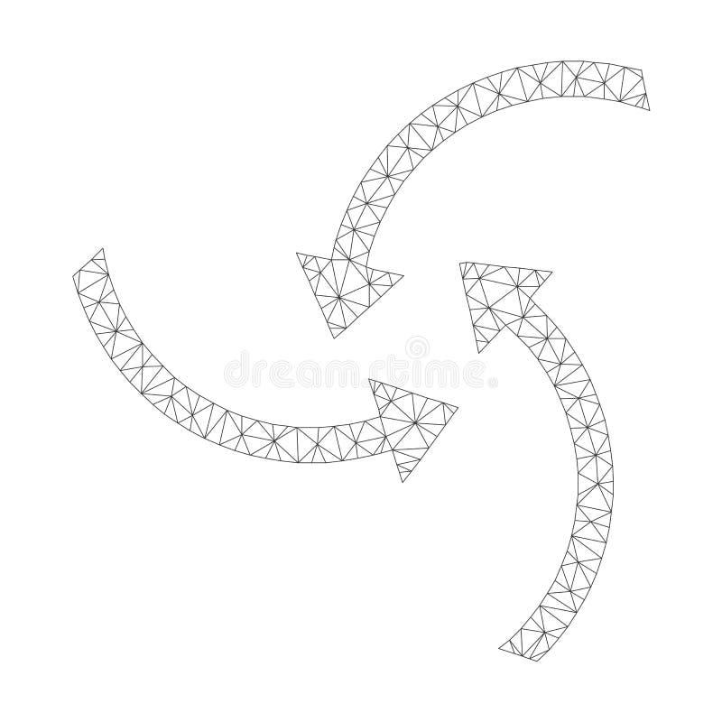 Mesh Vector Swirl Arrows Icon royaltyfri illustrationer