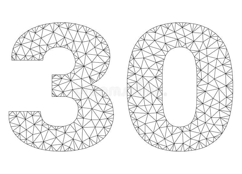 Polygonal Network 30 Text Caption stock illustration