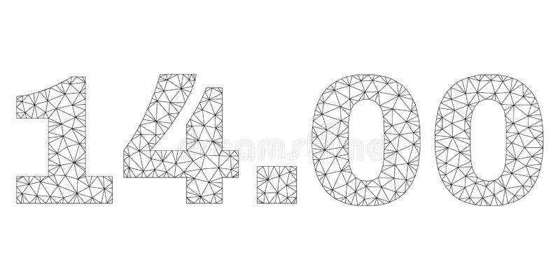 Polygonal Network 14.00 Text Tag stock illustration