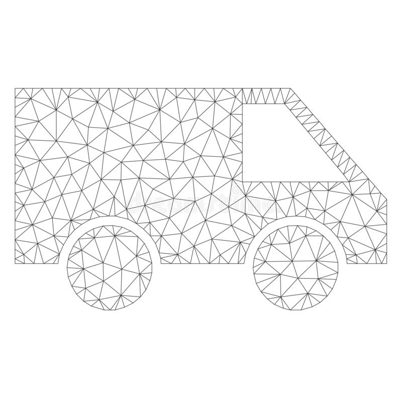 Mesh Vector Van Icon stock illustrationer