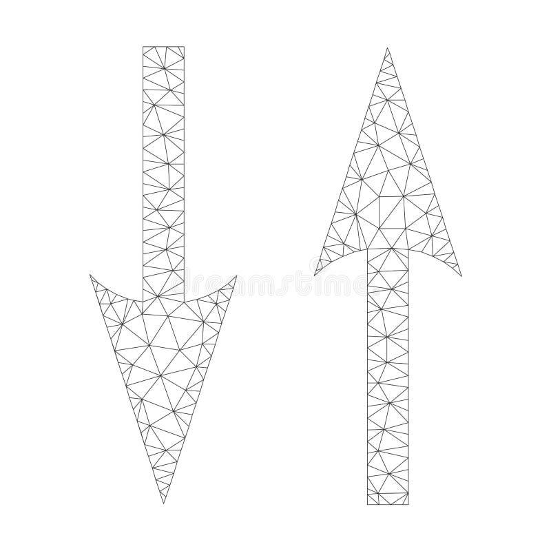 Mesh Vector Vertical Exchange Arrows Icon vector illustration