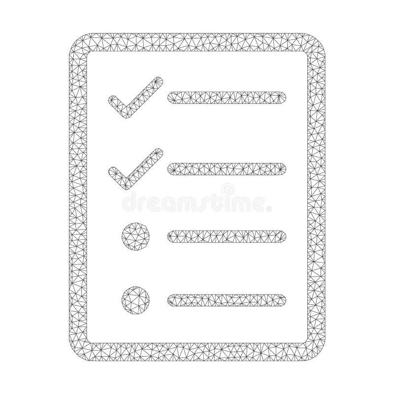 Mesh Vetora Checklist Page Icon ilustração do vetor
