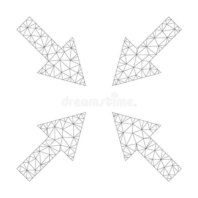 Mesh Vetora Compress Arrows Icon ilustração stock