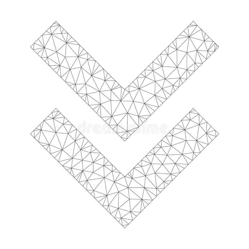 Mesh Vetora Shift Down Icon ilustração do vetor