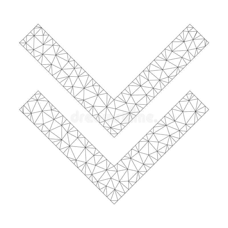 Mesh Vetora Shift Down Icon ilustração stock