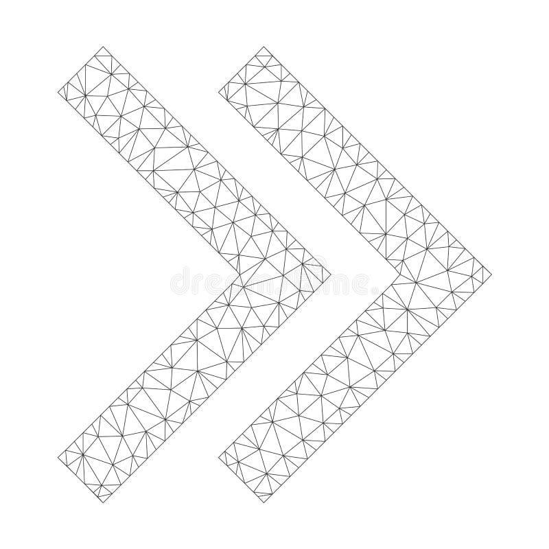 Mesh Vetora Shift Right Icon ilustração royalty free