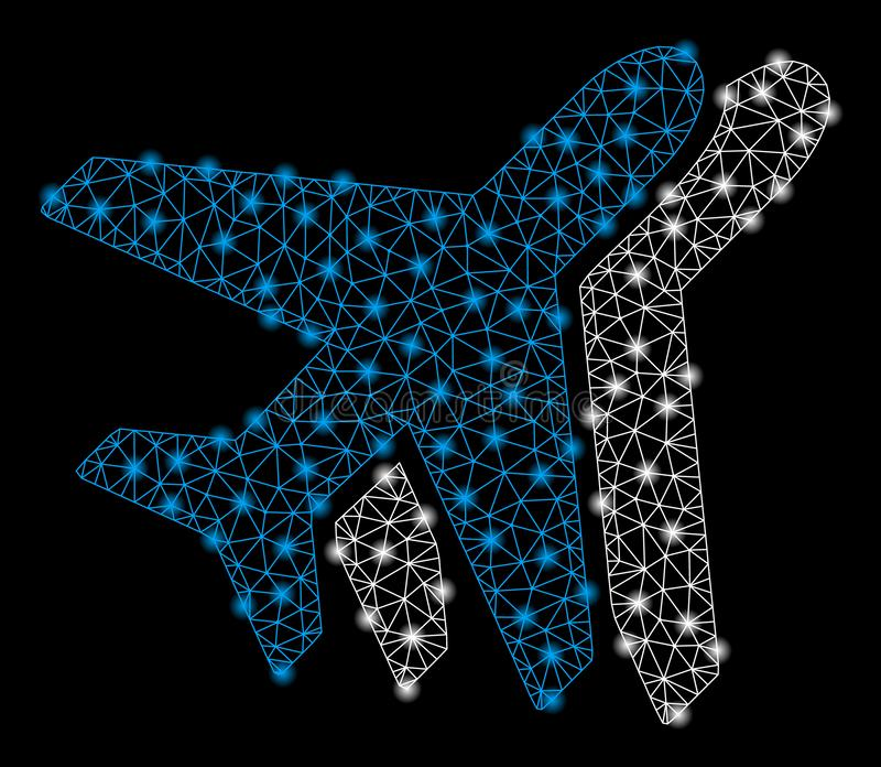 Mesh Wire Frame Airlines intelligent avec les taches instantan?es illustration stock