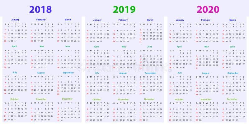 Calendario Editabile 2020.12 Mesi Di Progettazione 2019 2020 Del Calendario