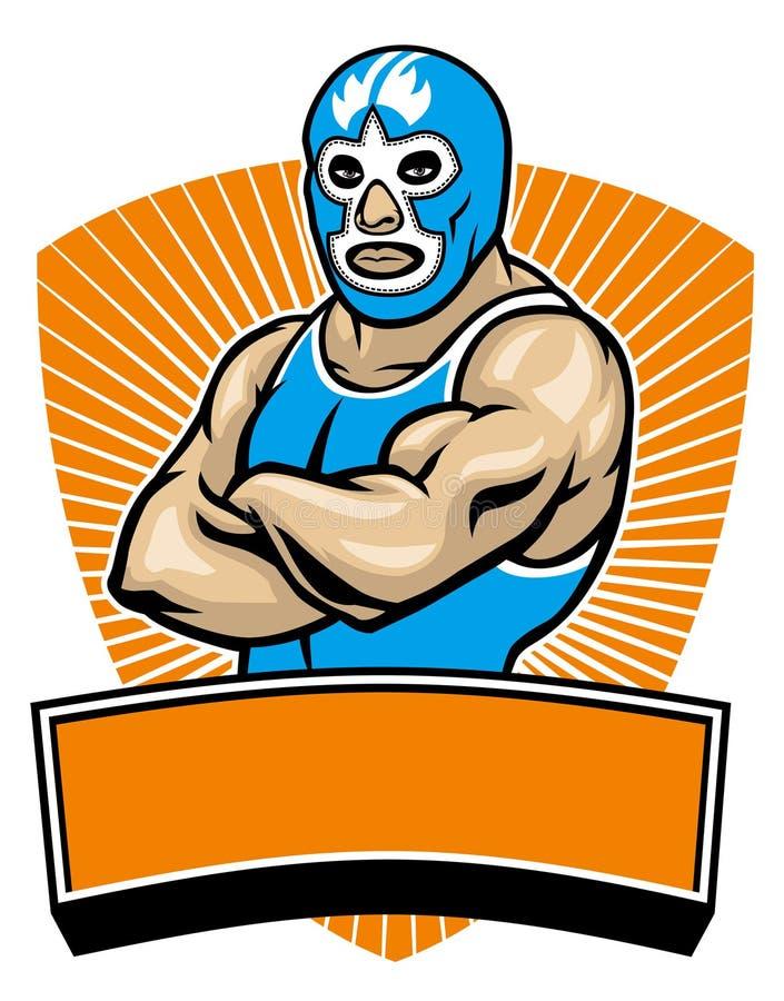 Mesican wrestler. Vector of posed mesican wrestler vector illustration