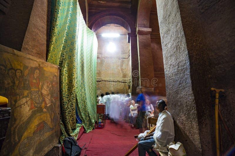 Meskel庆祝,拉利贝拉,埃塞俄比亚 库存图片