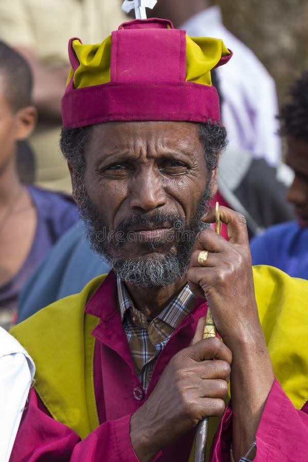 Meskel beröm, Lalibela, Etiopien royaltyfri fotografi