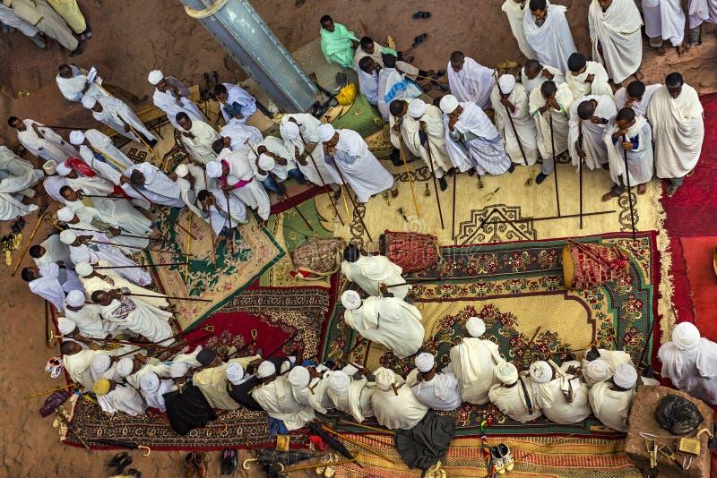 Meskel beröm, Lalibela, Etiopien royaltyfri foto