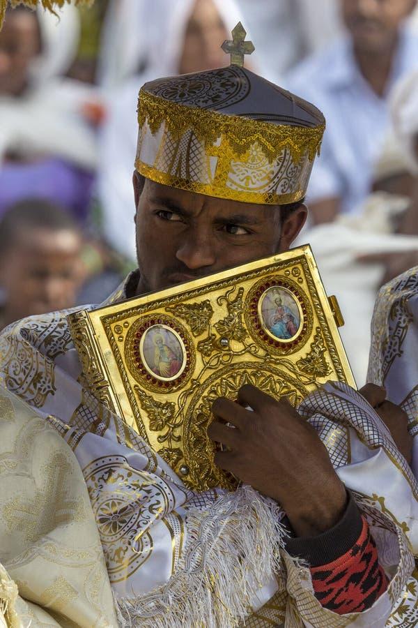 Meskel beröm, Lalibela, Etiopien arkivbilder