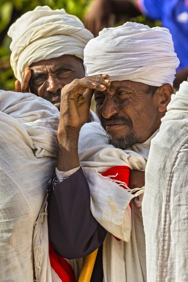 Meskel beröm, Lalibela, Etiopien royaltyfria bilder