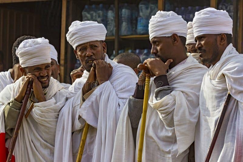 Meskel beröm, Lalibela, Etiopien royaltyfria foton