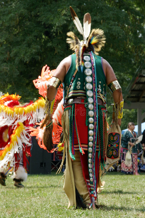 Meskwaki PowWow - Back Outfits stock photography