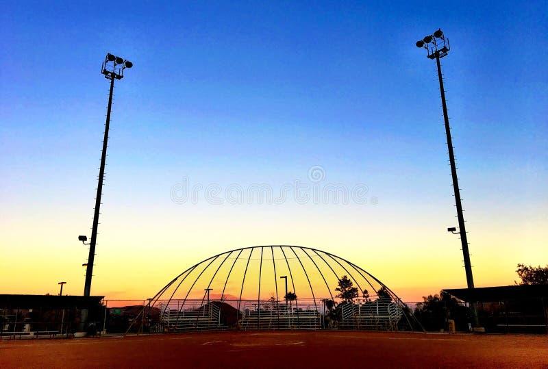 Mesmerizing цвета неба на заходе солнца стоковая фотография