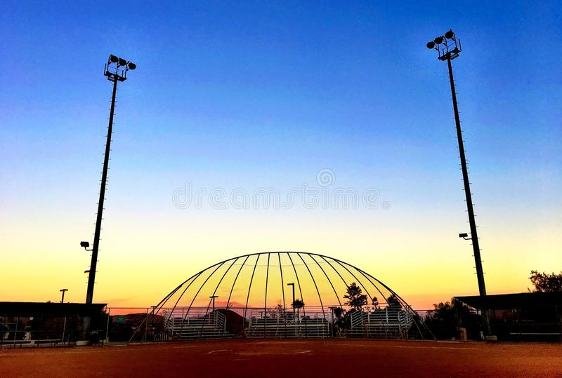 Mesmerizing colors of sky at Sunset stock photography