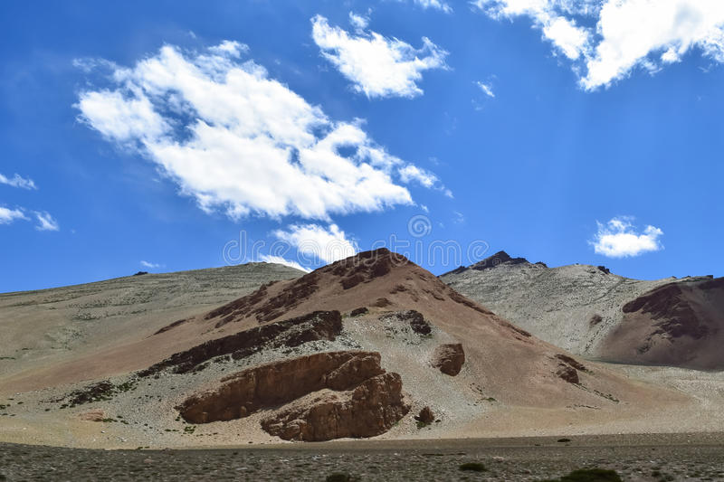 Mesmerizing dry landscape in Himalayan mountain region of Leh Ladakh. Leh Ladakh is a high altitude cold desert in Himalayan region. This kind of scenic royalty free stock image