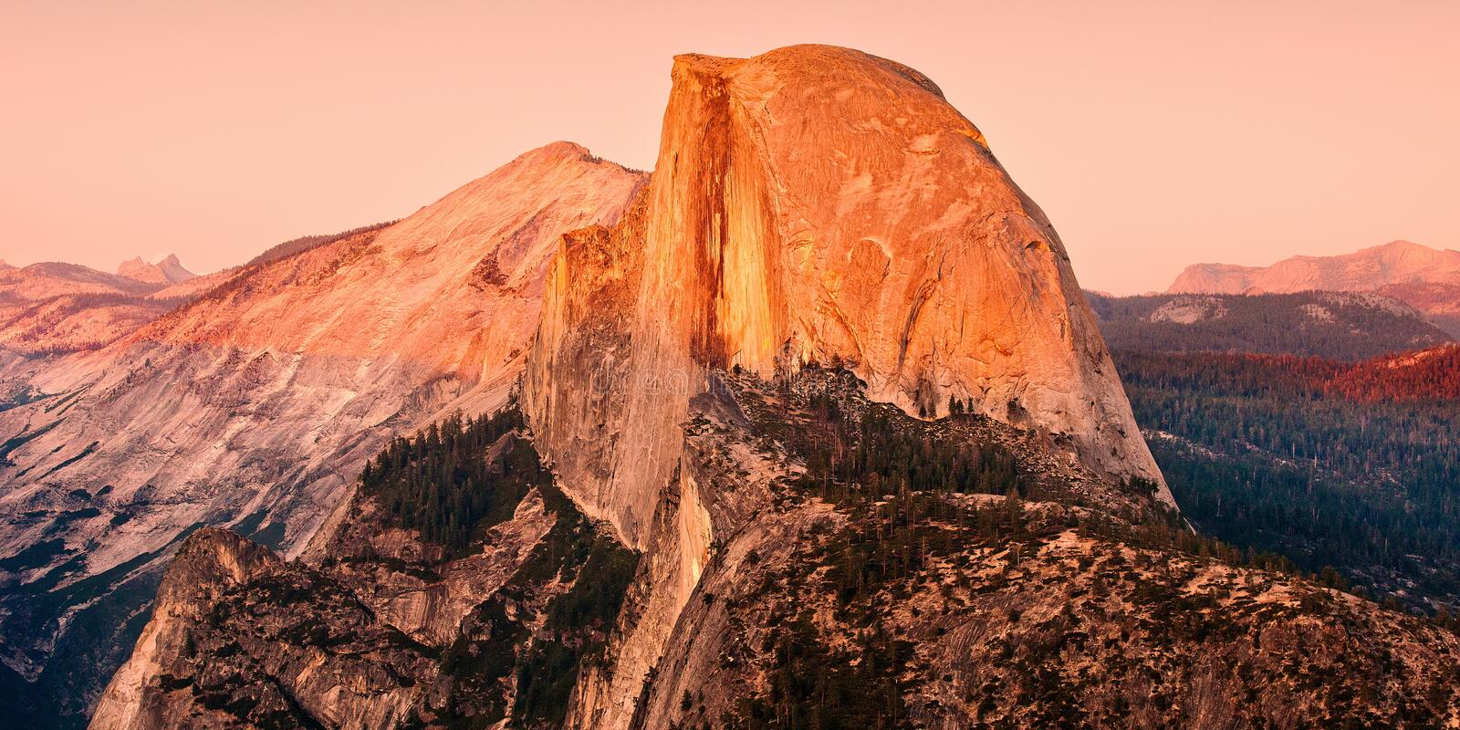 Mesmerizing scenery of a rock formation in Yosemite National Park, United States of America. A mesmerizing scenery of a rock formation in Yosemite National Park stock photo