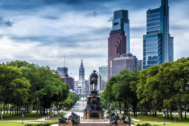Washington Monument, Eakins Oval, Philadelphia, USA stock photography