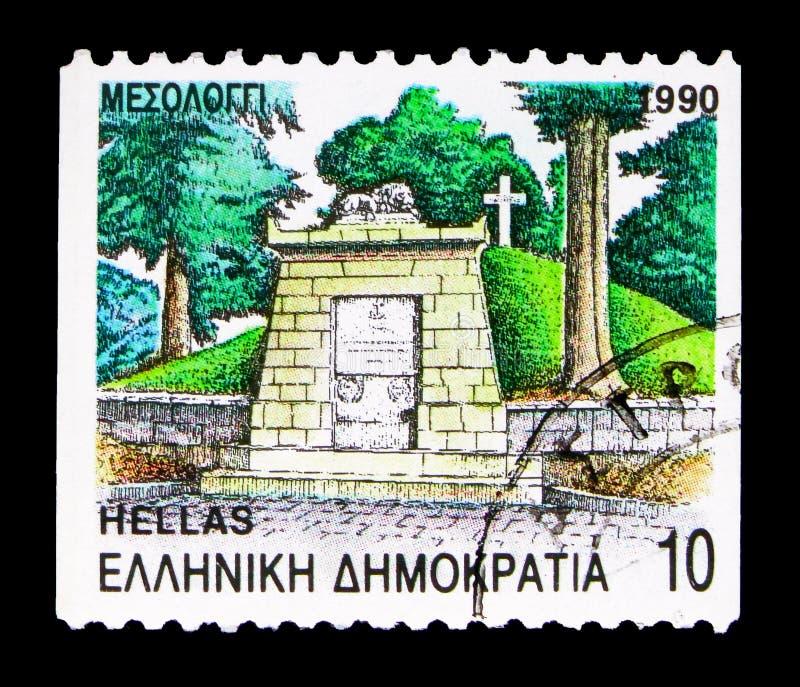 Mesolongi, Aitoloakarnania地方单位,专区的首都 免版税库存照片