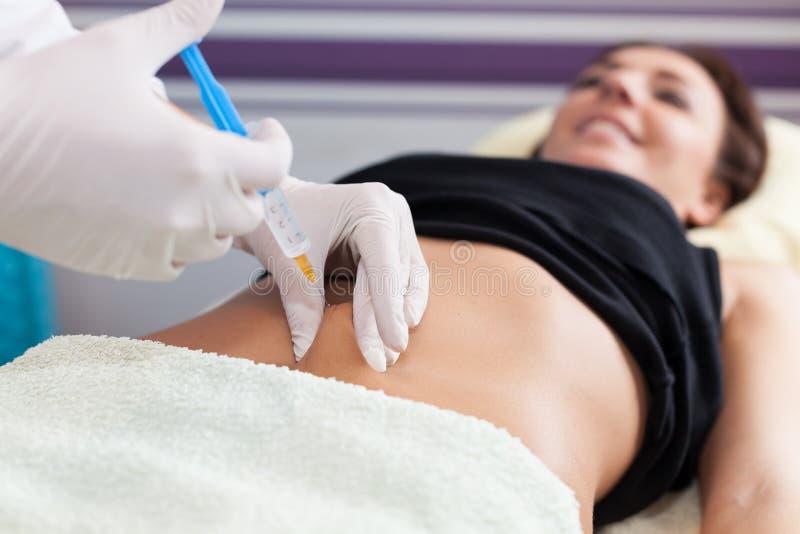 Mesotherapy Cellulite royaltyfri bild