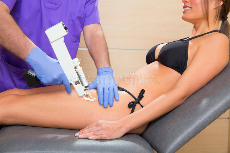 Download Mesotherapy Gun Therapy For Cellulite Doctor With Woman Stock Photo - Image: 29830698