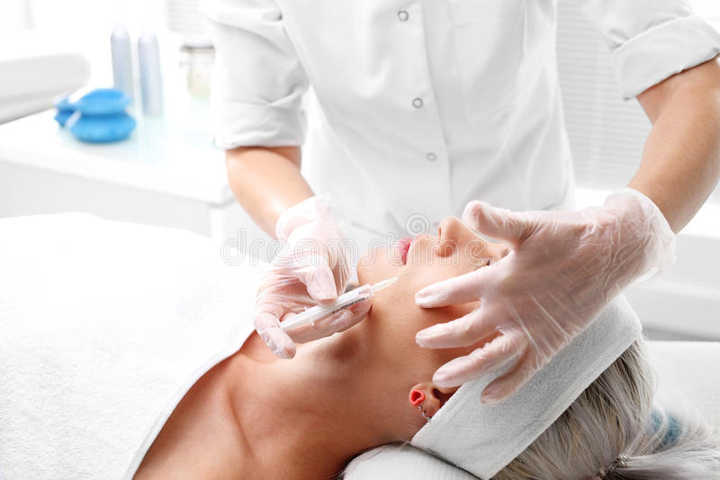 Mesotherapy naald stock foto's