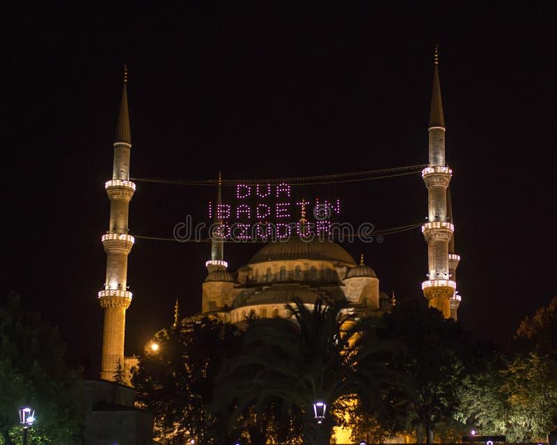 A mesquita azul fotos de stock