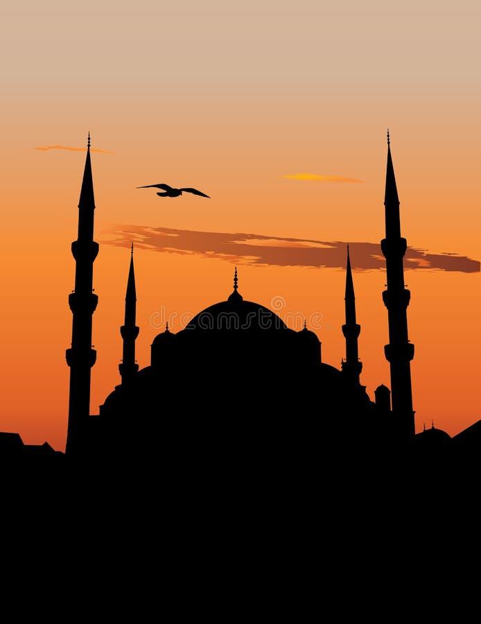 Mesquita azul em Istambul ilustração royalty free