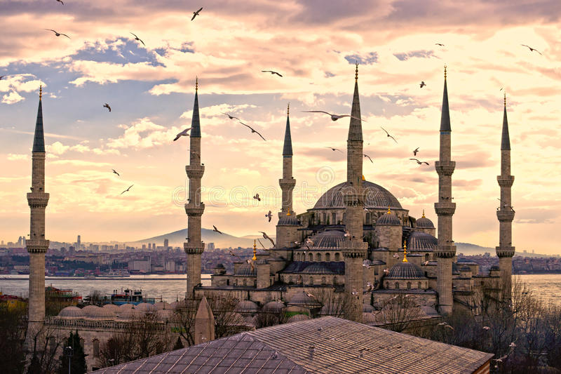 A mesquita azul, Istambul, Turquia. imagem de stock