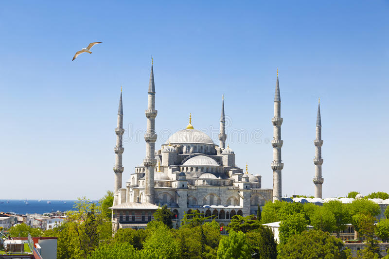 Mesquita azul, Istambul, Turquia fotografia de stock royalty free