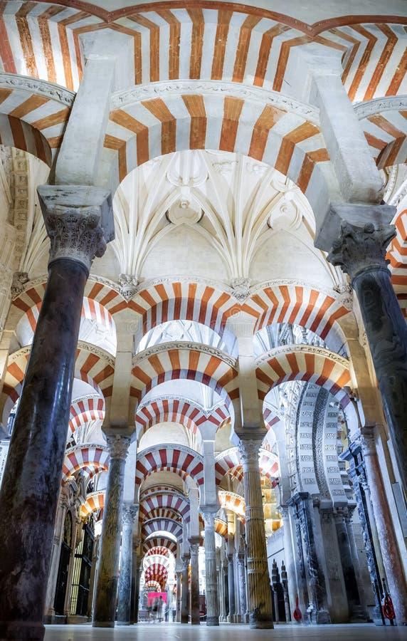 Mesquita/catedral do rdoba do ³ de CÃ - arcos imagens de stock royalty free