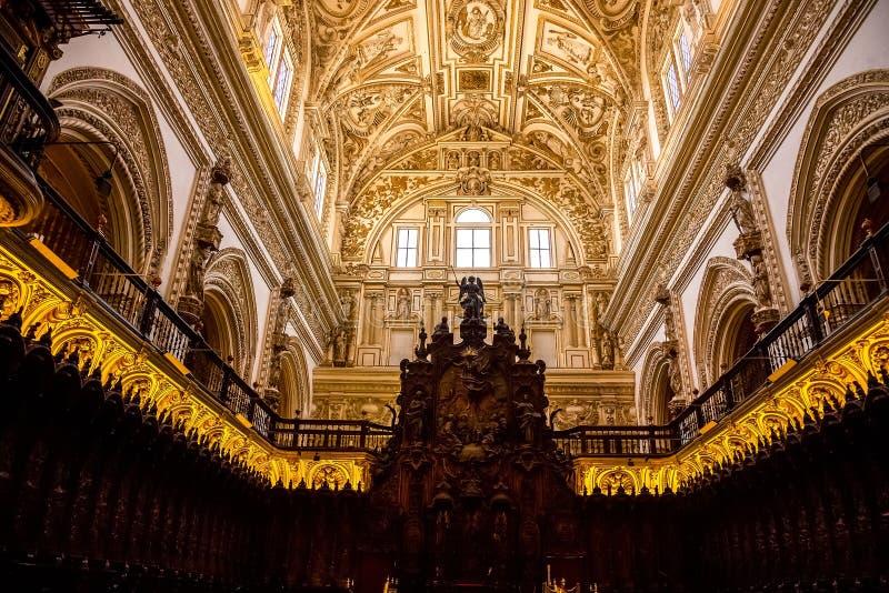 Mesquita/catedral do rdoba do ³ de CÃ - decoração do teto fotos de stock