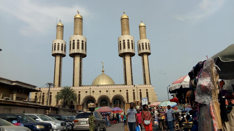 Mesquita central fotografia de stock royalty free