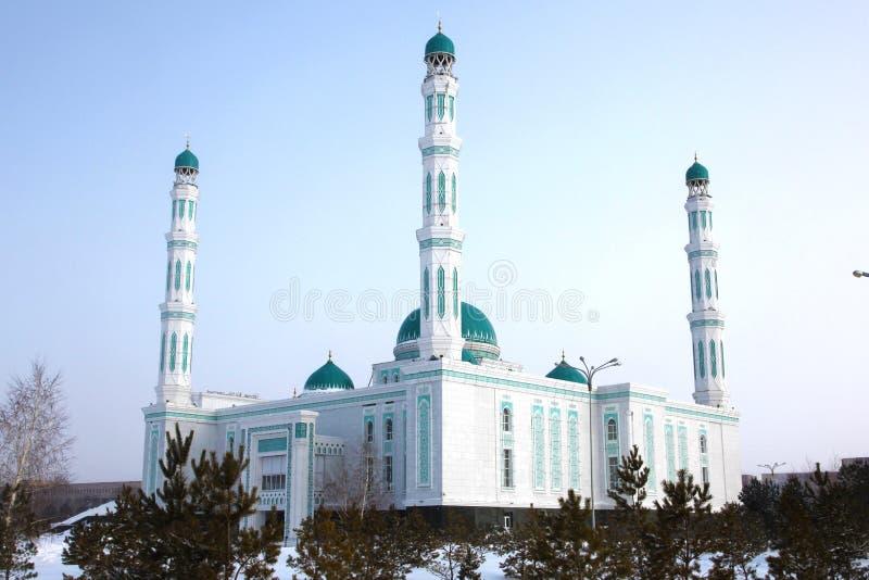 Mesquita central da catedral de Karaganda, Cazaquistão fotografia de stock