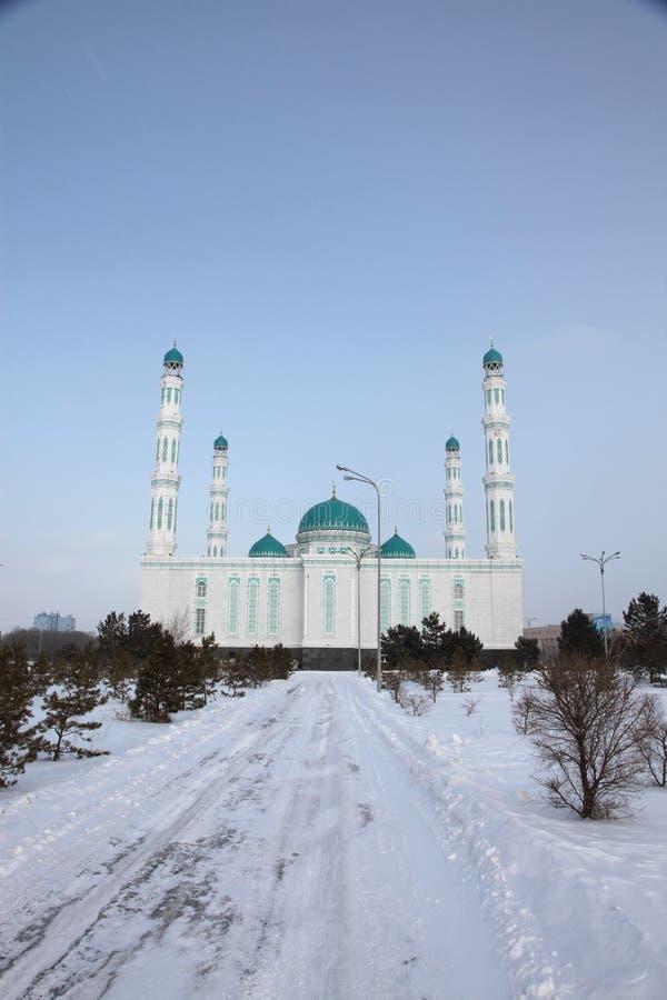Mesquita central da catedral de Karaganda, Cazaquistão fotografia de stock royalty free