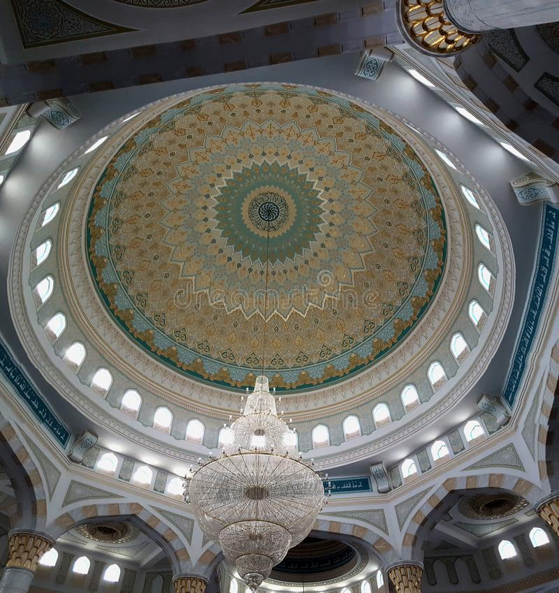 A mesquita da sultão de Hazrat em Astana, Kazakhstan imagem de stock royalty free