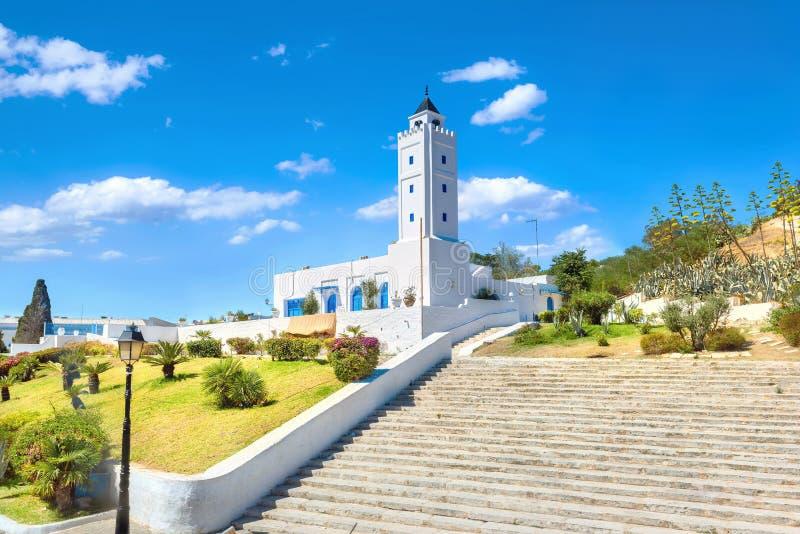 Mesquita da vila de Sidi Bou Said Tunísia, Norte de África fotos de stock royalty free