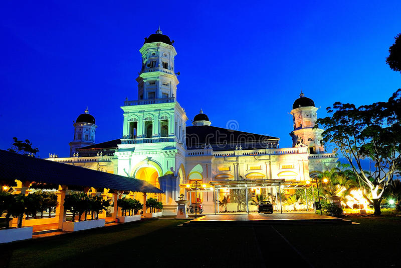 Mesquita de Abu Bakar da sultão imagem de stock royalty free