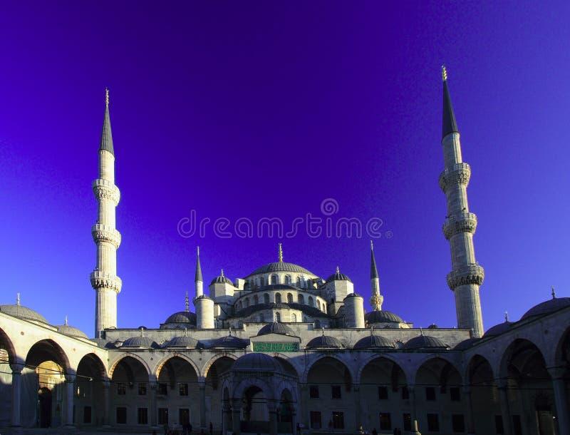A mesquita de Ahmed da sultão - mesquita azul de Istambul foto de stock