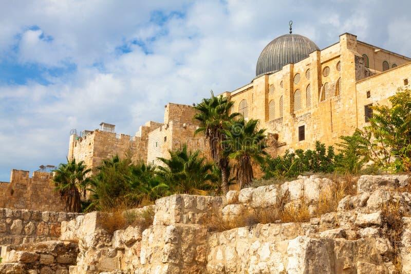 Mesquita de Al Aksa, Jerusalém foto de stock