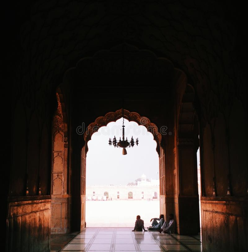 Mesquita de Badshahi imagens de stock royalty free