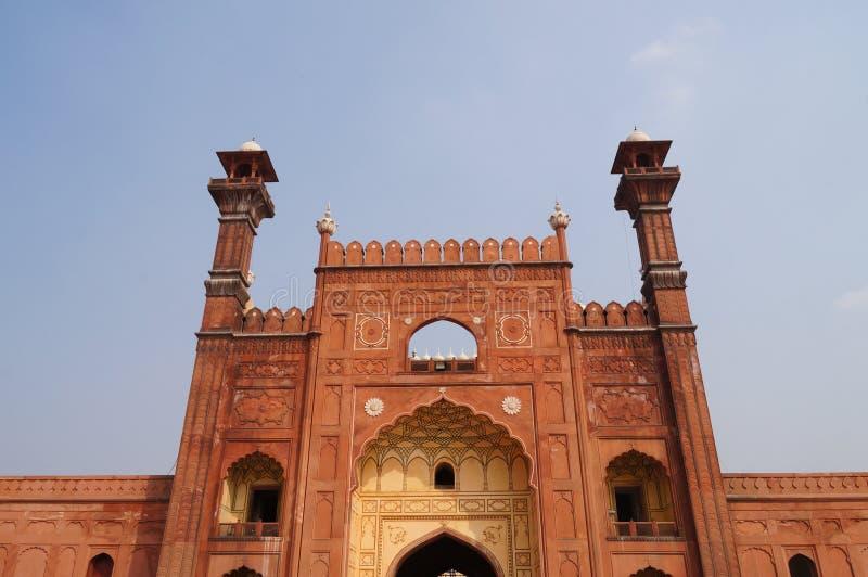 Mesquita de Badshahi em Lahore, Paquistão imagens de stock